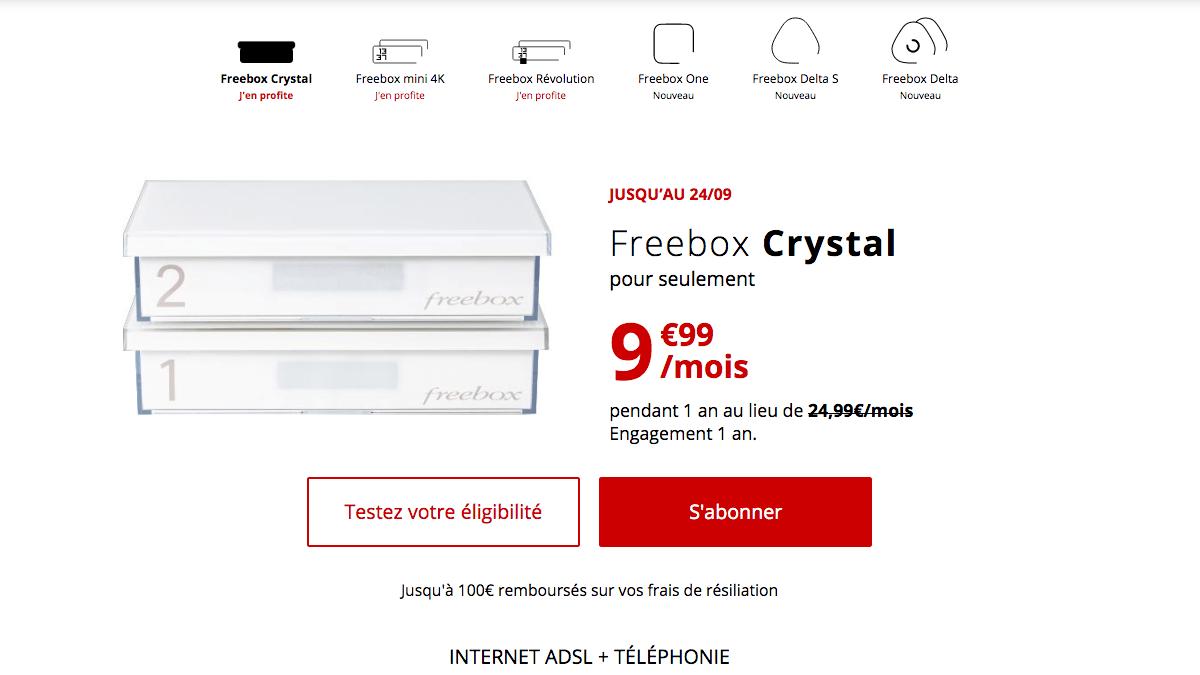 Box ADSL Free en promotion.
