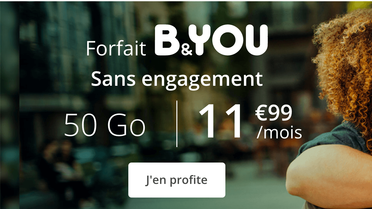 Forfait B&YOU 40 Go en promotion.