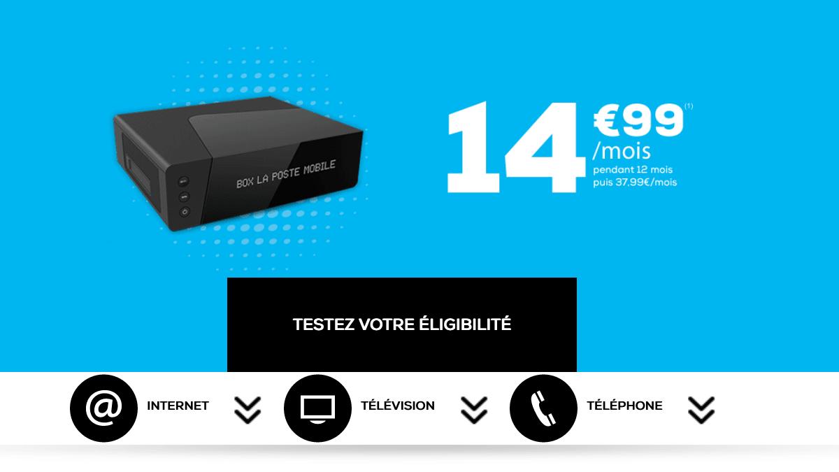 La Poste Mobile promotion box internet ADSL ou fibre optique.