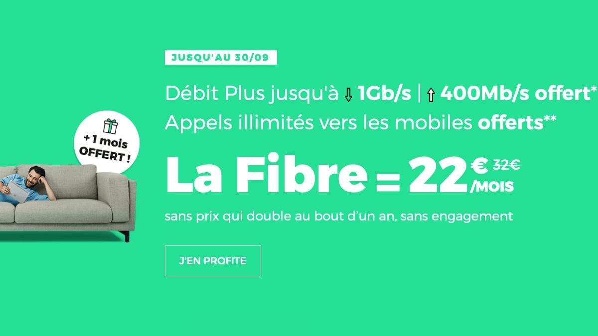 Box internet fibre optique promotion chez RED by SFR.