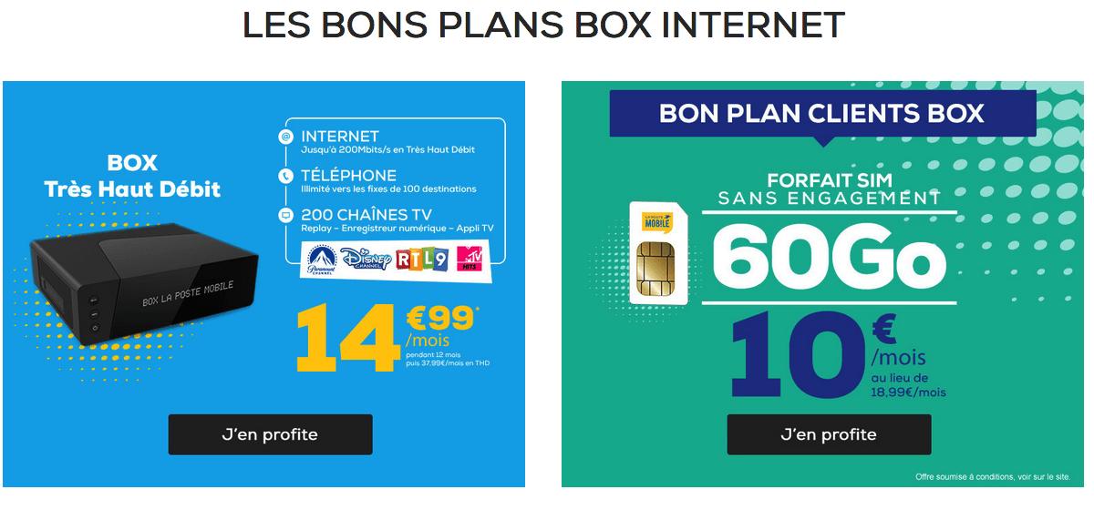 Forfait 4G en promotion chez La Poste Mobile.