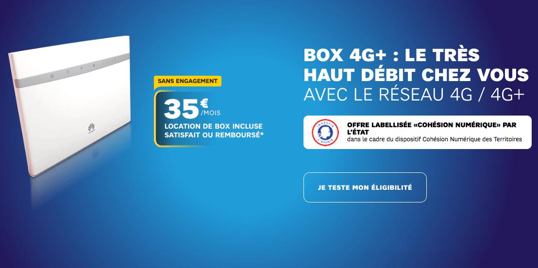 la box 4G+ de SFR