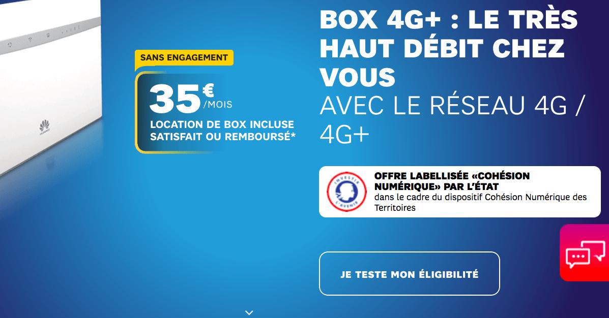 le forfait box internet 4G de SFR