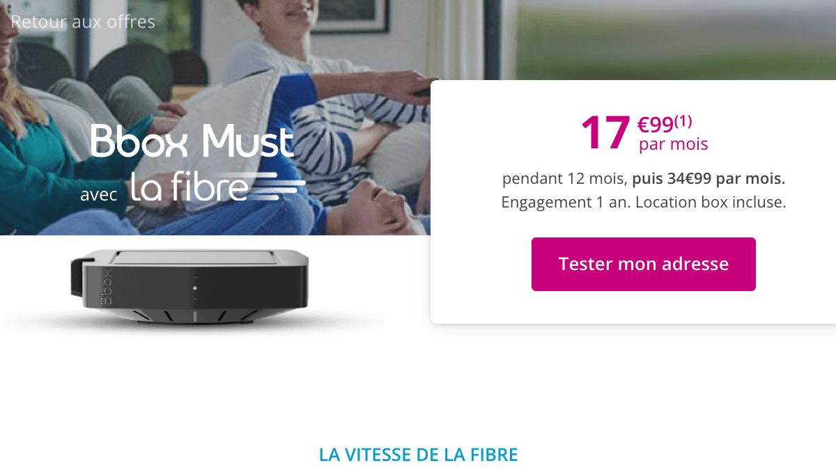 Promo Bouygues Telecom Bbox Must.
