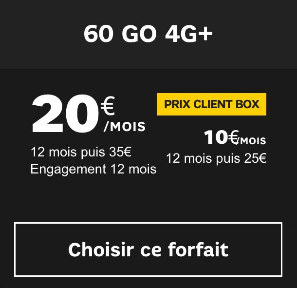 le forfait 60 Go de SFR