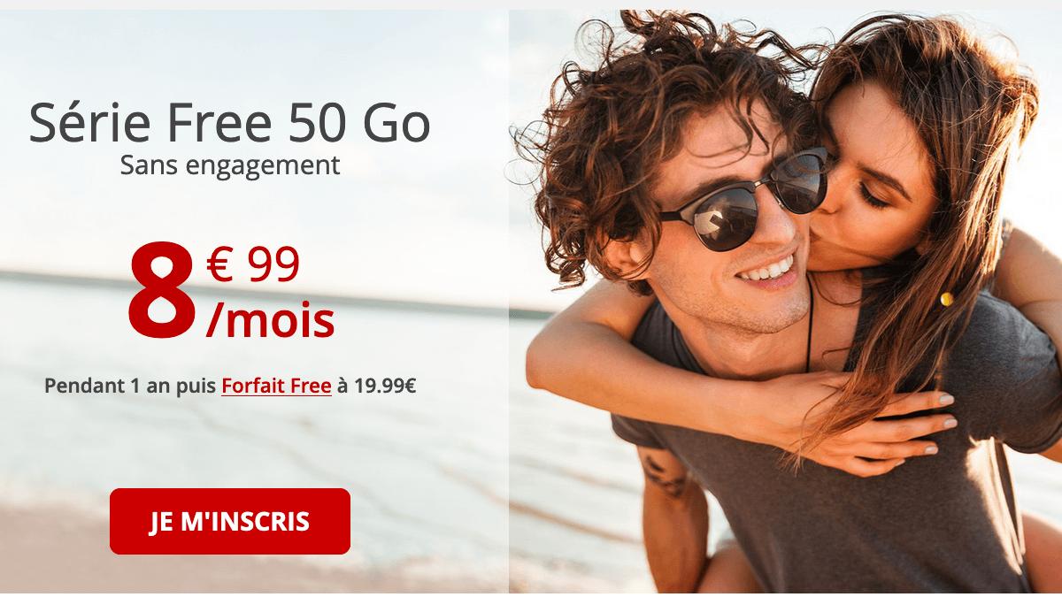 Forfait 4G Série Free 50 Go.