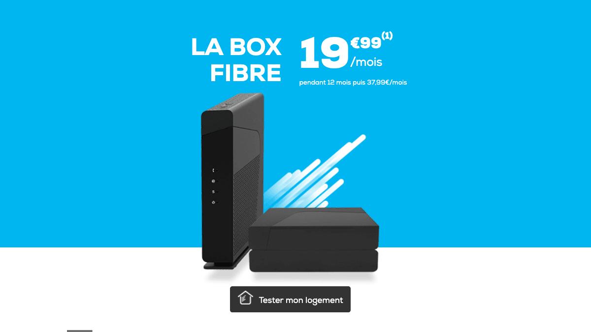 Box fibre optique promo la poste mobile.