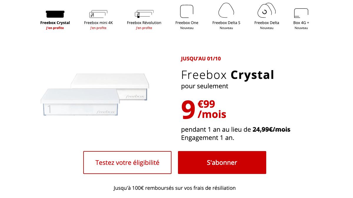 Promotion box internet ADSL chez Free.