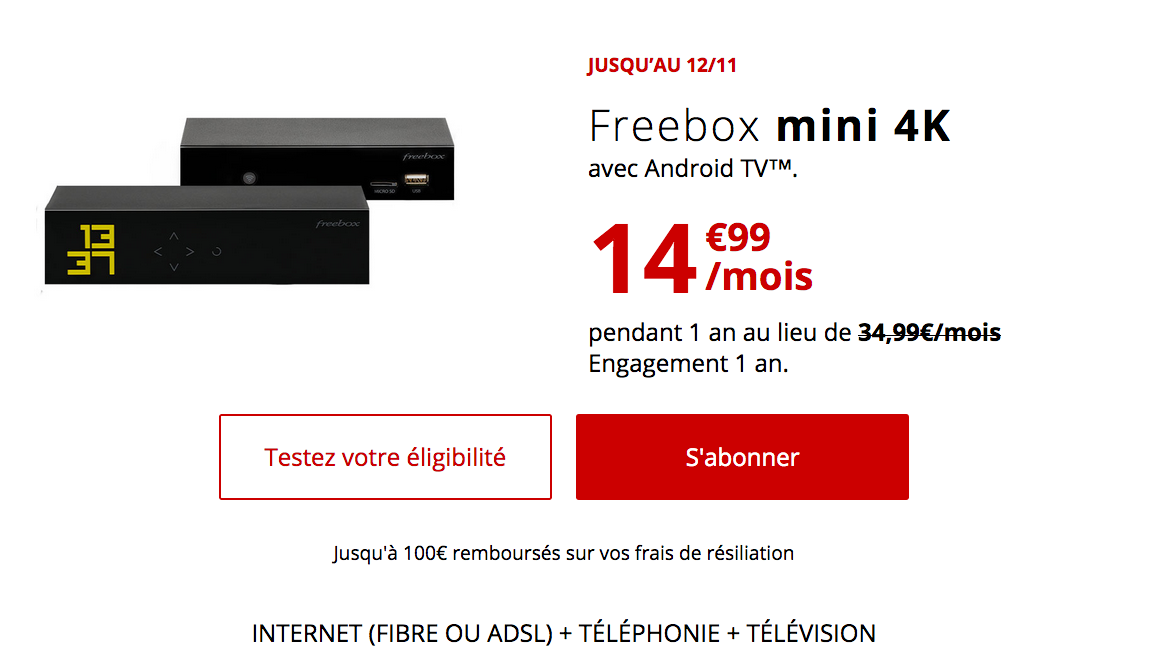 La box internet triple play de free