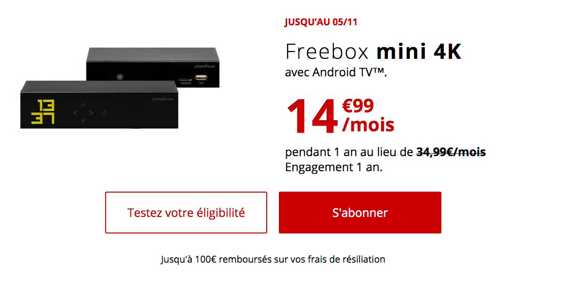 L'abonnement box fibre à 14,99€