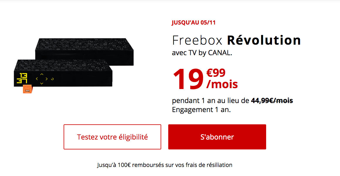 l'abonnement box fibre à 19,99€