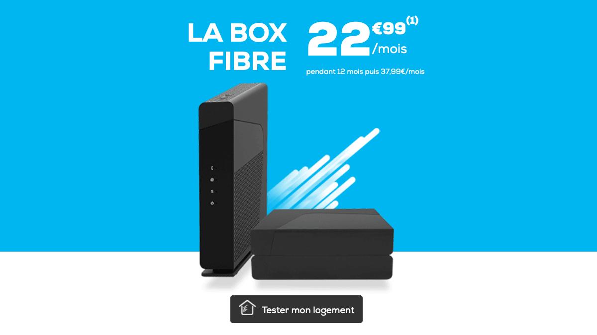 La Poste Mobile promo box fibre optique.