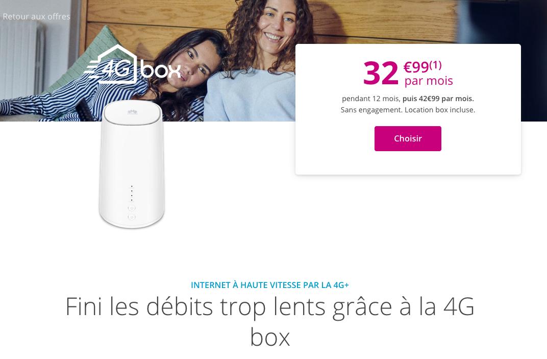 la box 4G de Bouygues Telecom