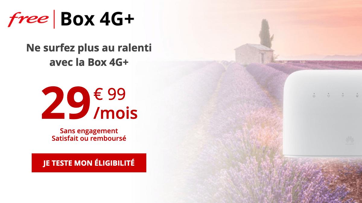 Box internet 4G+ de Free.
