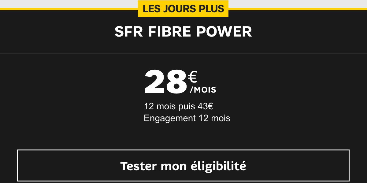 La SFR Fibre à 28€/mois