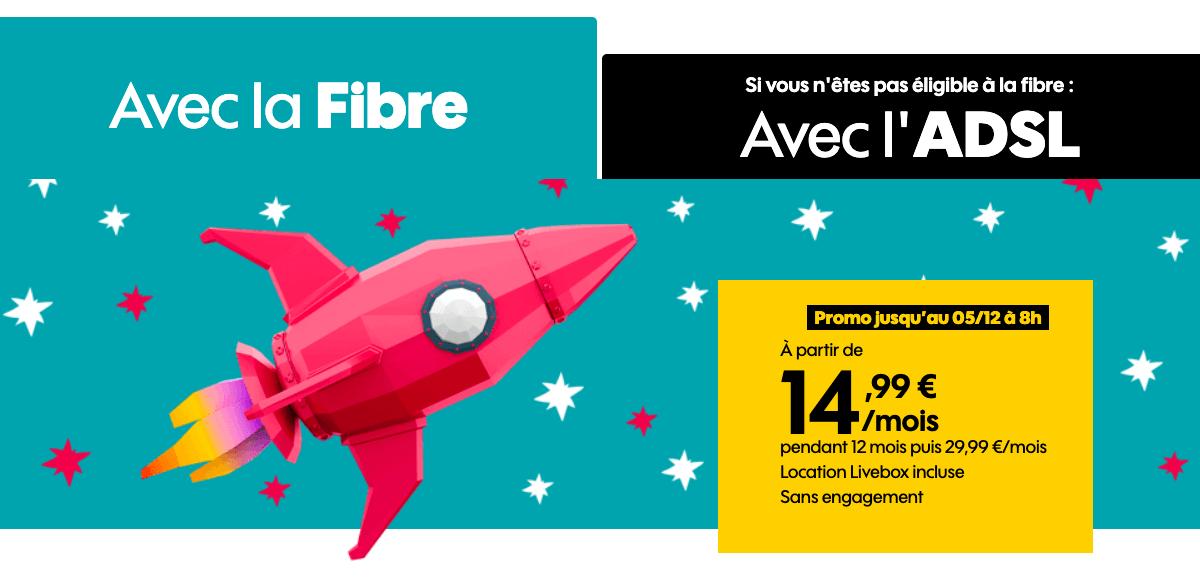 La box fibre optique de Sosh à 14,99€/mois