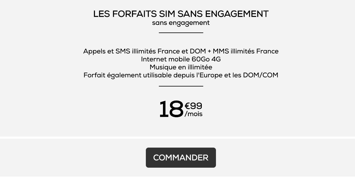 Le forfait 60 Go de La Poste Mobile à 18,99€/mois habituellement