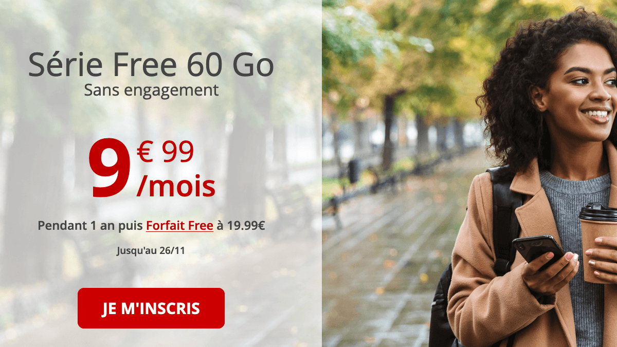 Série Free 60 Go promotion forfait mobile 4G.