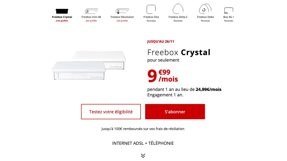 Promo box internet pas chère.