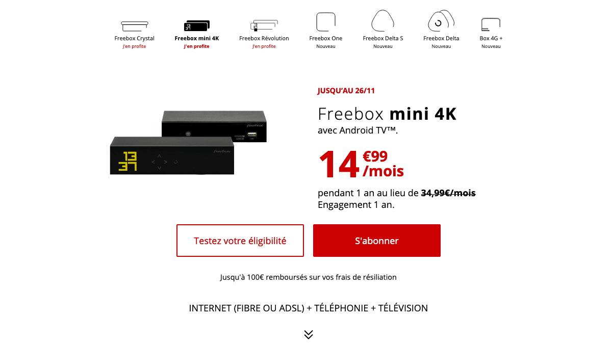 Freebox mini 4K en promo chez Free.