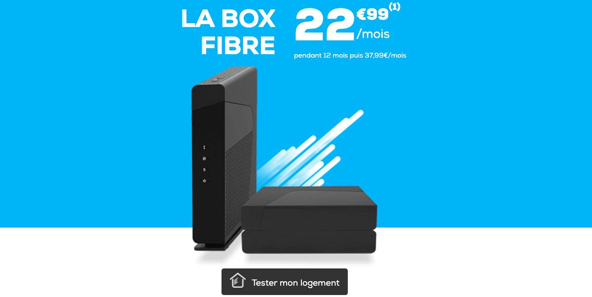 La box fibre optique commercialisée par La Poste Mobile
