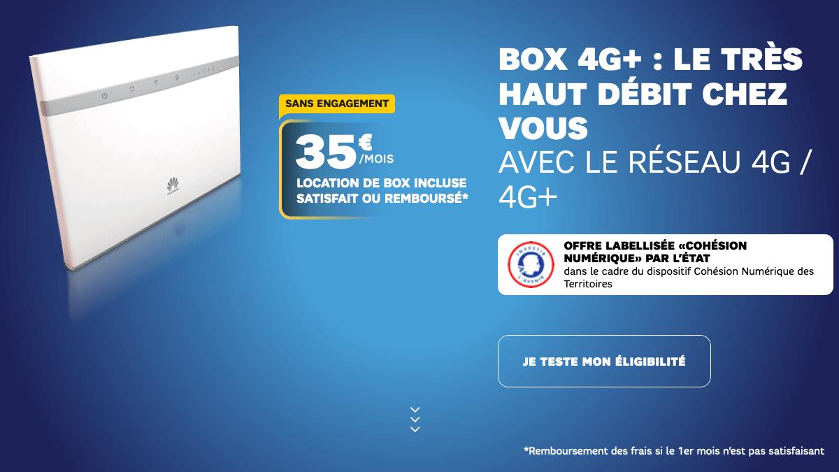 Box 4G en promotion chez SFR.