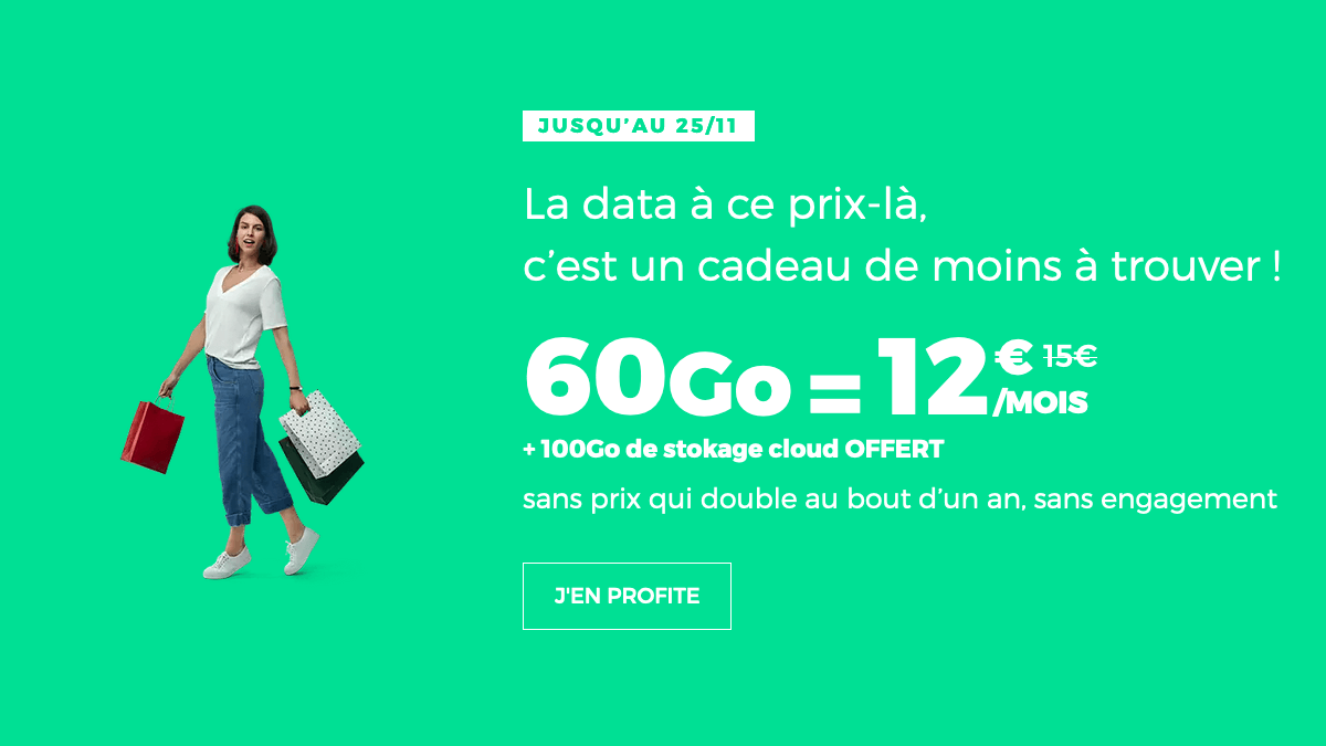 RED by SFR forfait 4G promotion.