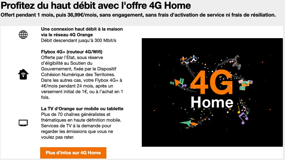 Box internet 4G pas chère.