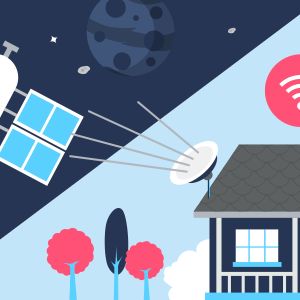Connection à Internet via les satellites.