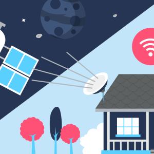 Les abonnements internet par satellite.