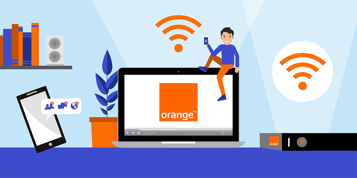Les abonnements internet d'Orange.