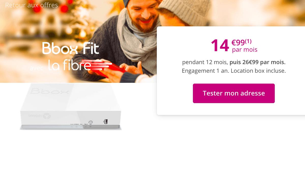 Promo Bbox Fit fibre optique Bouygues Telecom.