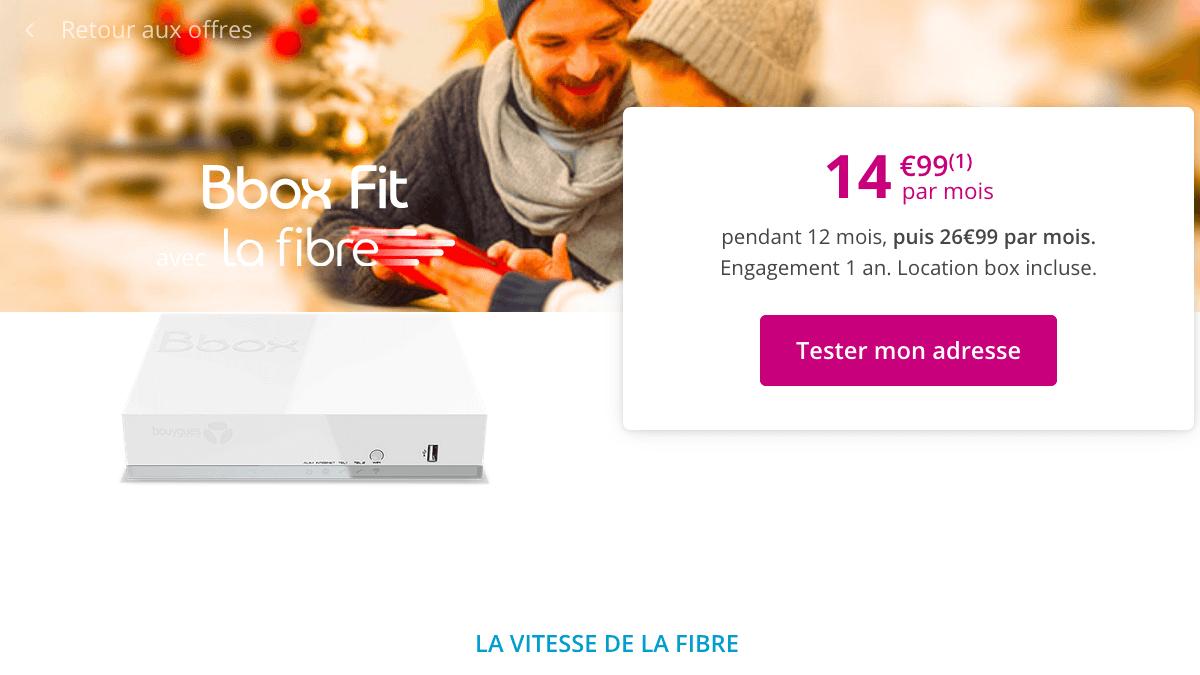 Bbox Fit en promo avec la fibre optique.