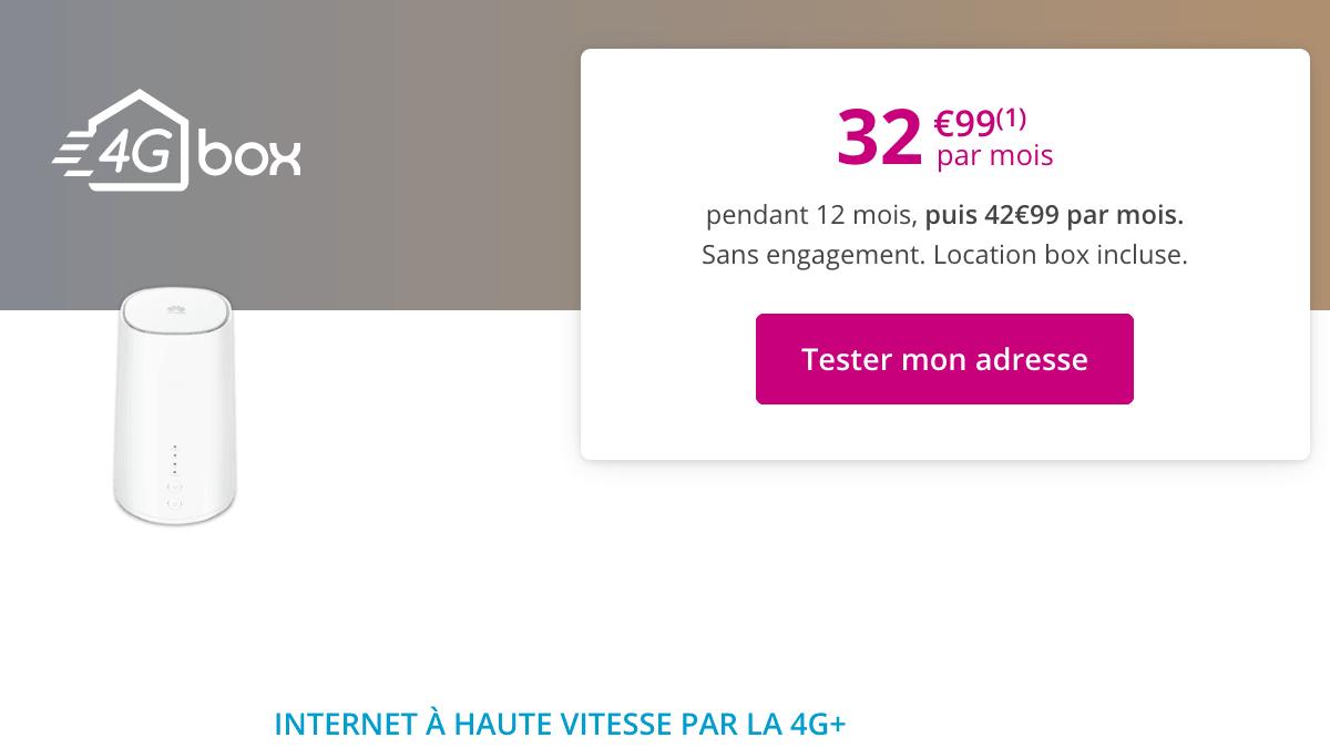 La box 4G+ de Bouygues Telecom en promo.