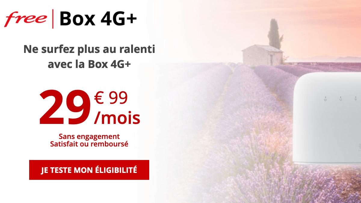 Free box 4G+ pas chère.
