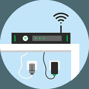 Box internet ADSL.