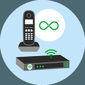 Box internet appels illimités.