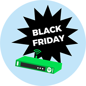 Promo box internet Black Friday.