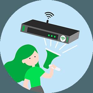 Box internet pour étudiant.