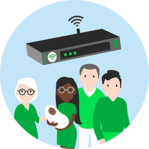 Box internet pour la famille.
