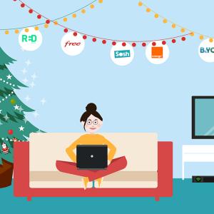 Les meilleures offres de box internet pour Noël.