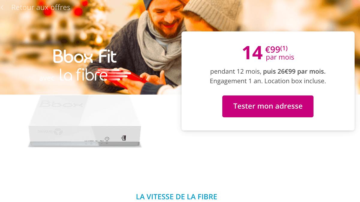 Bbox Fit promo box internet chez Bouygues Telecom.