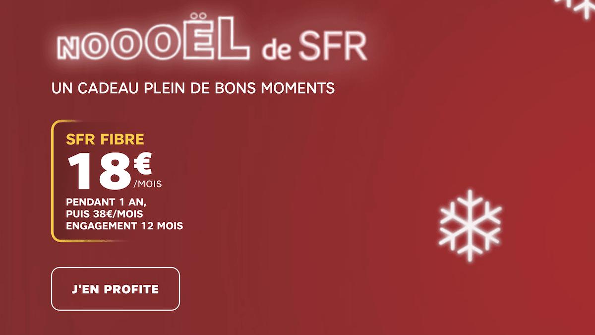 La box fibre optique de SFR disponible pour 18€/mois