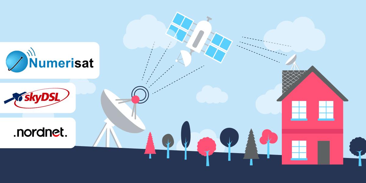 Les opérateurs internet par satellite