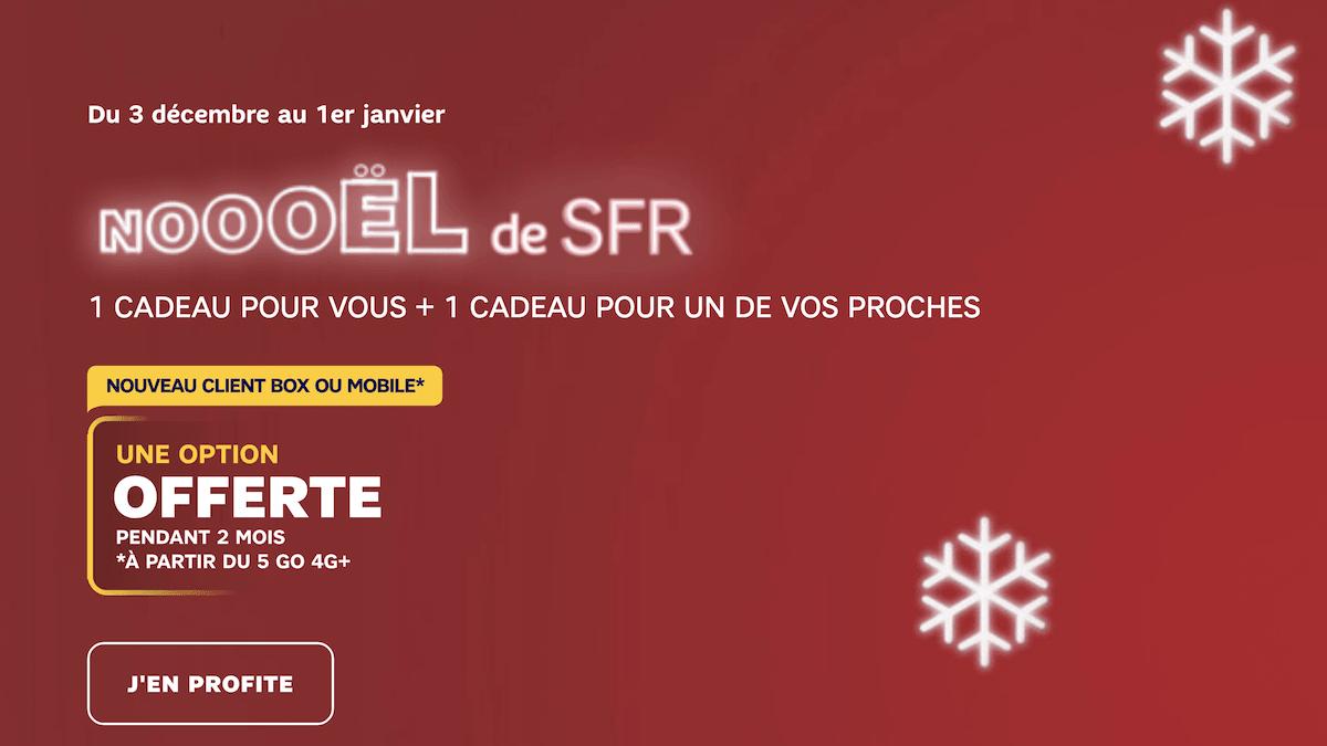 SFR offre trois options à l'occasion des fêtes de fin d'année