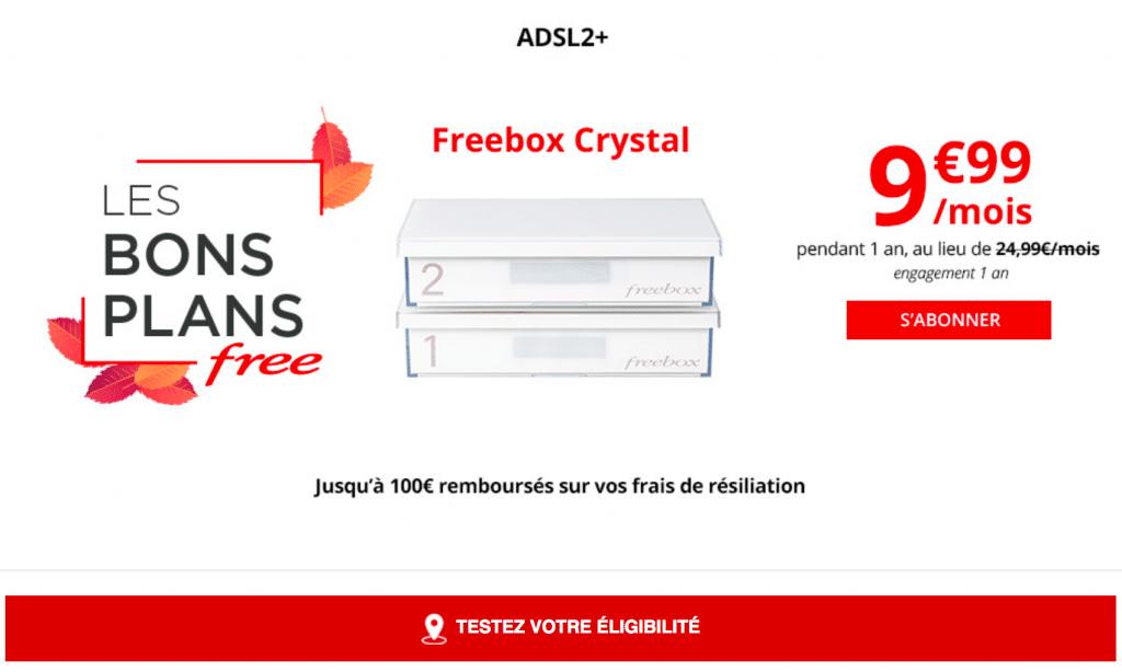 Black Friday : la Freebox Crystal en promo.
