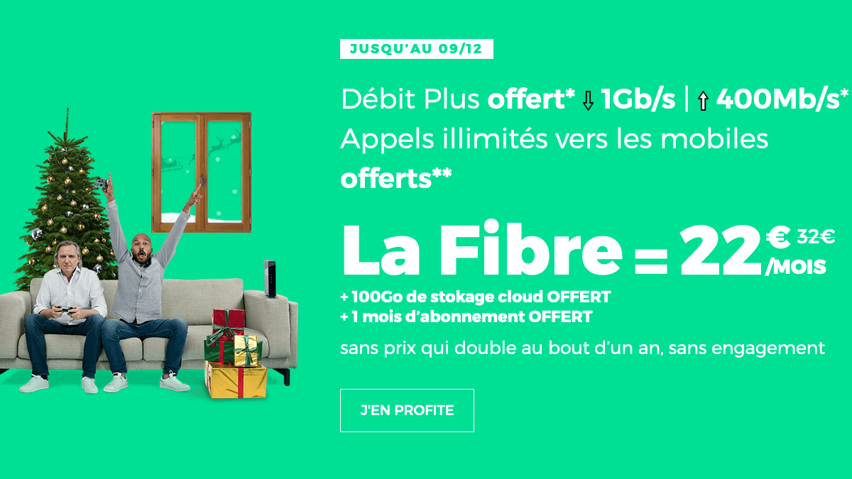 Promo box internet RED by SFR pour Noël.