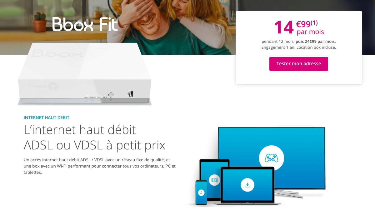 Bouygues Telecom profite l'ADSL en haut débit.