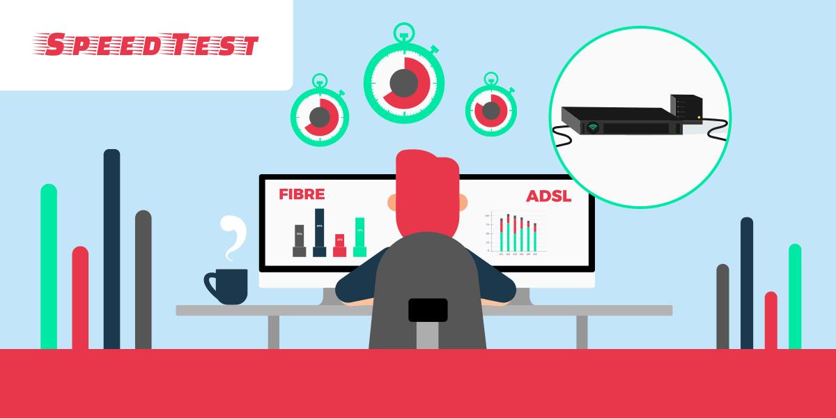 Test débit fibre et ADSL