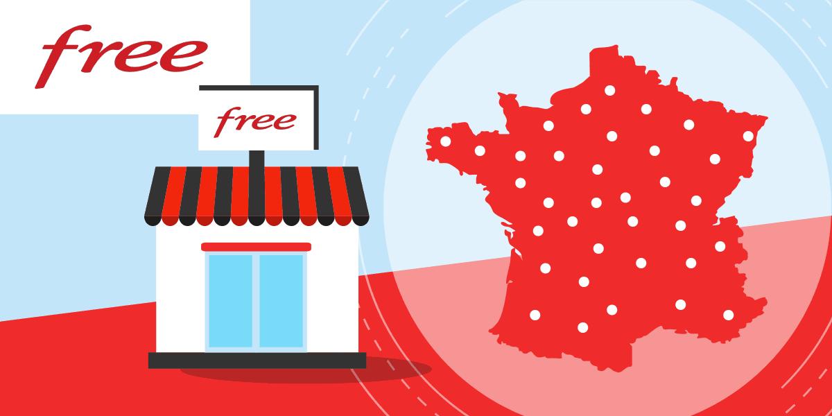 Les boutiques Free